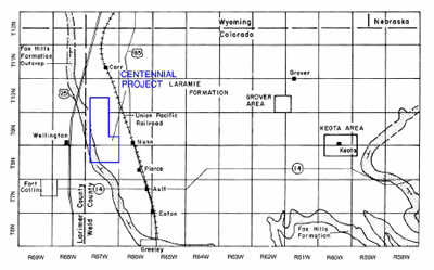 An outline of the Centennial Uranium Mining Project