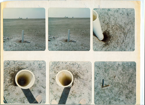 Uncapped Drill Holes at the Keota Site (Example 2)