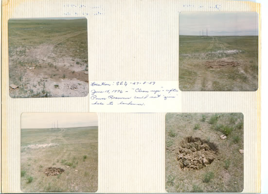 Uncapped Drill Holes at the Keota Site (Example 1)